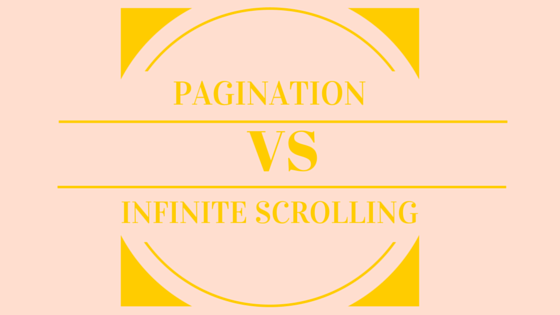 Infinite scrolling vs pagination ux ecommerce