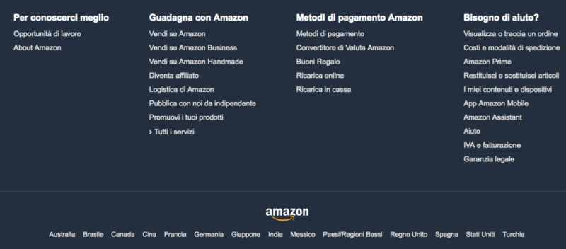 footer ecommerce